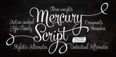 Scriptfont Mercury, von Emil Bertell