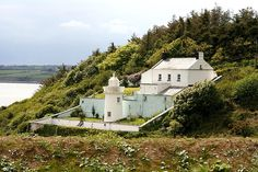 Duncannon lighthouse on the Hook Peninsula County Wexford. The oldest of its kind in Ireland, this lighthouse was built in 1744.