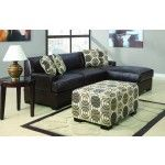 $748.00  POUNDEX Furniture - Montreal Coffee Leather Small Sectional Sofa - F7451/F7452