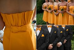 Love this color - marigold wedding inspiration bridesmaids groomsmen Marigold Wedding, Green Wedding, Wedding Colors, Wedding Ideas, Fall Wedding, Bridesmaids And Groomsmen, Bridesmaid Dresses, Yellow Bridesmaids, November Wedding