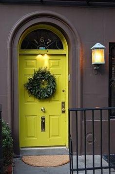Fabulous chartreuse door