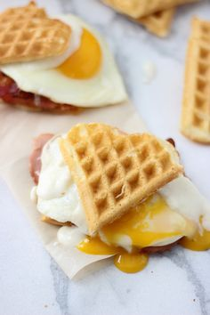 Heart Shaped Waffle Croque Madame Sliders - Cooking for Keeps