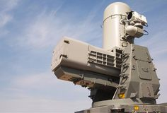 The Raytheon SeaRAM is modeled after the Phalanx 20 mm gun system Military Jets, Military Weapons, Military Aircraft, Uss Nimitz, Arms Race, Space Battles, Electrical Projects, Naval, Military Equipment