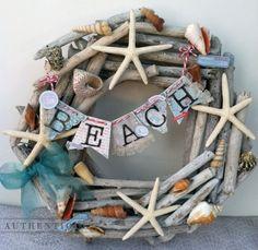 Coastal Beach Wreath: via:: http://blog.authentiquepaper.com/2012/06/just-beachy.html