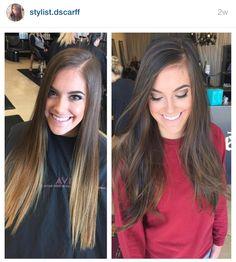 Fall hair color. Dark hair. Chocolate hair color. Long hair. IG stylist.dscarff