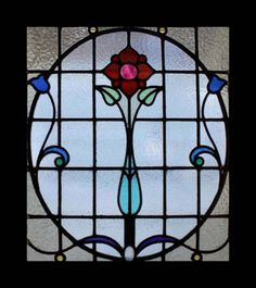 The Very Best Floral Art Nouveau Antique Scottish Stained Glass Window in Antiques, Architectural & Garden, Stained Glass Windows, 1900-1940 | eBay
