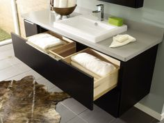 Make the most of limited space. Many of Decora's new #bath products feature U-shaped drawers that fit around plumbing so you can utilize every inch of #storage.