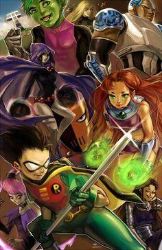 Awesome Art We've Found Around The Net: Back To The Future, Krang, Power Rangers, Teen Titans Nightwing, Batwoman, Teen Titans Fanart, Teen Titans Go, Beast Boy, Dc Comics, Red Hood, Original Teen Titans, Desenhos Cartoon Network