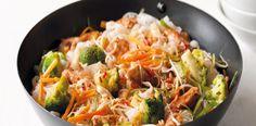 1. Smíchejte česnek, zázvor, chilli, lžíci sójové omáčky a rajčatové pyré. Do marinády dejte kuřecí maso mírně osolené ze všech stran a nechte ho...