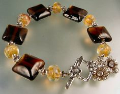 Bracelet made with my lampwork beads.