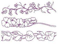 Delicate Floral Borders 1 Machine Embroidery Designs  http://www.designsbysick.com/details/delicateFloralBorders1