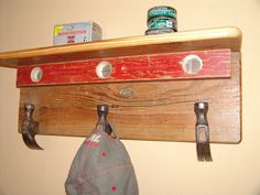 Shelf Wooden Shelf Hat Rack Storage Upcycled Repurposed Wood