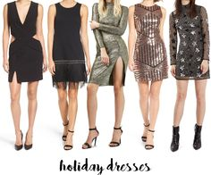 Holiday Outfit Ideas. Love these dresses for holiday parties and New Years Eve! head on over to the blog for more holiday outfit inspo: www.adoubledose.com
