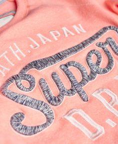 Womens - Applique Super Star Sweatshirt in Snowy Phosphorescent   Superdry