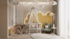 The qualitative design isn't determined with the help of color diversity or texture in one room. Functionality expressed by shape is considered to be a good design. Kids Bedroom Designs, Baby Room Design, Nursery Design, Luxury Nursery, Luxury Kids Bedroom, Childrens Bedroom Decor, Luminaire Design, Nursery Room, Girl Room