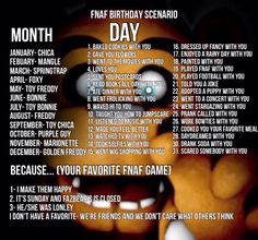 Fnaf Bday game 6 ( i think ). Mangle baked cookies with me because she was lonley.... Aww how sweet . What did you guys get?