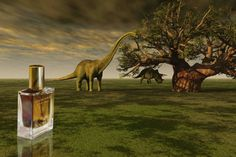 """A primeval encounter with one of the most fantasmatic Era of Earth. As if one could walk by the dinosaurs and breath through their prehistoric lungs the story of the generations of trees that have survived till modern ages.""Oriental, Woody, Gourmand and Balsamic. Dinosaur Background, Primary And Secondary Sources, Dinosaur Games, Dinosaur Skeleton, Tyrannosaurus Rex, Fauna, Natural History, Fossils, Earth"