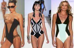 Il costume intero grafico fa sembrare il punto vita più magro e rende più sinuoso tutto il corpo. Ecco i modelli più chic e i consigli di stile.