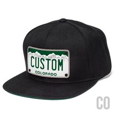 Snapback Hat Shop Custom Hats · Custom Colorado plate patch. Personalized  with any name on our leather plate patch. Cool 92ab105ee9ba