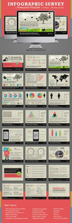 Great source for Infographics development, with PSD templates accessible via clickthrough to site.