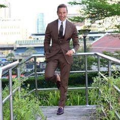 «#brown #unstructured #suit #bangkok #thailand Shoes & Tie #absolutebespoketoys  @absolutebespoke @absolutebespoketoys»