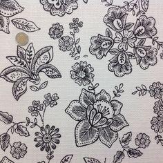 Coton Chanel noir et blanc