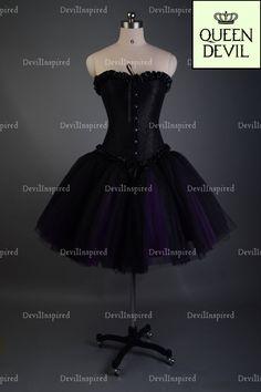 1cec1a77da6 Black Purple Short Gothic Burlesque Corset Prom Party Dress - Dresses