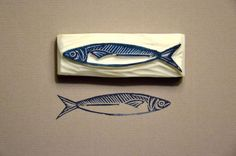 Like this sardine - could do a range of cards of fishes x:
