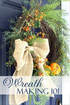 A series of blog posts showing how to create a wreath from start to finish. Includes seasonal inspiration and ideas! www.onsuttonplace.com