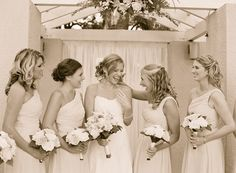 cute candid pic of bride and her maids