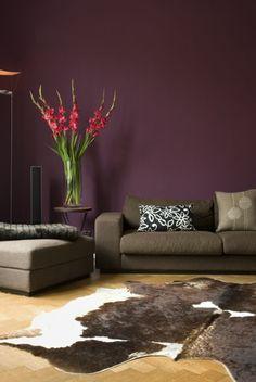 Living Room = PURPLE!!