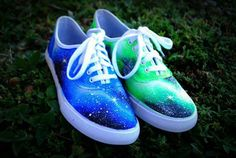 Galaxy Vans-Omg I love how like they are different colors on each shoe!!