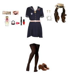 """St T trinian's uniform school"" by labeladama ❤ liked on Polyvore featuring art, sttrinians, headgirl and AnnabelleFritton"