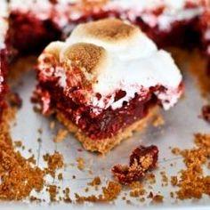 Red Velvet S'mores Brownies