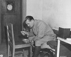 Nuremberg Trials | Göring eating in his prison cell