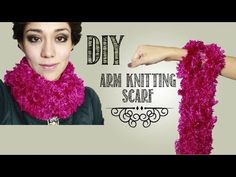 -DIY- Teje una bufanda con tus brazos! / 30 min arm knitting scarf - YouTube