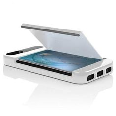 Incipio Stowaway Credit Card Case with Integrated Stand for iPhone 5 / 5S - Optical White Charcoal Gray