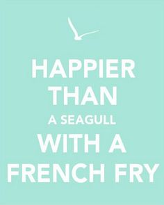 Happier than a seagull with a french fry