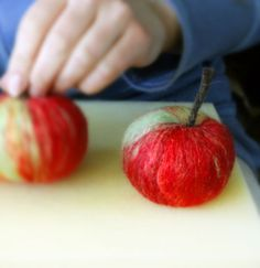 how to make needle felted apple tutorial