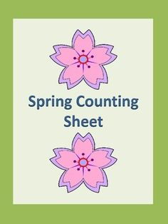 FREEBIE! Here is a spring counting activity worksheet. Students count the spring objects and write the number on the provided line. If you download this free item, please take the time to rate it.
