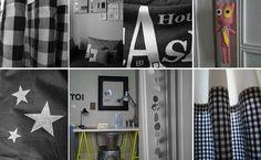 Chambres d'enfant- jolies idées en noir et blanc