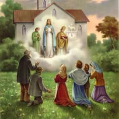 Our Lady of Knock (Ireland): An apparition of the Blessed Virgin Mary, Saint Joseph, and Saint John the Evangelist, on the evening of August 21, 1879, to 15 people whose ages ranged from five years to seventy-five and included men, women, teenagers and children.