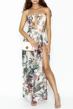 51b56ac33b33 day and night Floral Dress Romper - Main Image Cute Jumpers