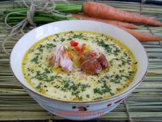 Transylvanian soup with smoked Pork Soup, Chili Soup, Romania Food, Soup Recipes, Cooking Recipes, Smoked Pork, Soups And Stews, My Favorite Food, I Foods