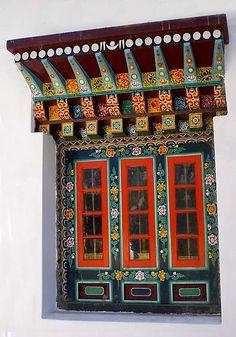 Ornate Rumtek Monastery Window India, (by Jim Downs)