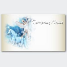 Sky Faerie Asparas and Unicorn Vignette Business Card by Fantasy_Gifts Fantasy Gifts, Faeries, Vignettes, Business Cards, Unicorn, Creatures, Things To Come, Tapestry, Sky