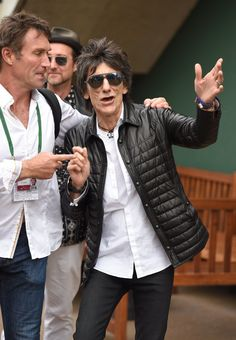 Pin for Later: It's Game, Set, and Match For These Wimbledon-Loving Celebs Pat Cash and Ronnie Wood