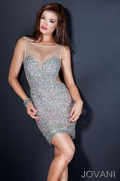 $699.99 Jovani 4904 Sleeveless Short Cocktail Dress with Beaded Sweetheart Neck at frenchnovelty.com
