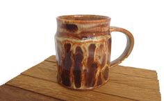 Unique Coffee Mug Handmade Brown Ceramic Mug  by ACoupleofCranes