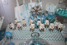 CAKE POPS DE OLAF!!!
